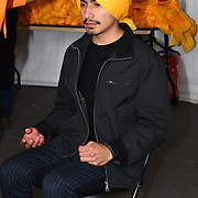 London, England, UK. 27 April 2019. Free Turbans at the Vaisakhi Festival is a Sikh New Year in Trafalgar Square, London, UK.