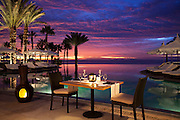 Stunning romantic set up for two at Hilton Hotel Los Cabos