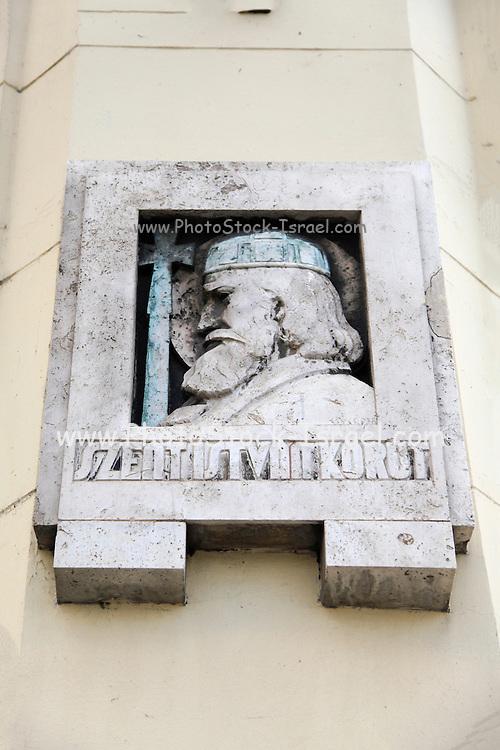 Budapest, Hungary Szent István körút bridgehead statue