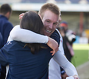 Hug for Rhys Weston from physio Karen Gibson - Ross County v Dundee - IRN BRU Scottish Football League First Division at Victoria Park<br /> <br /> <br /> <br /> http://www.davidyoungphoto.co.uk