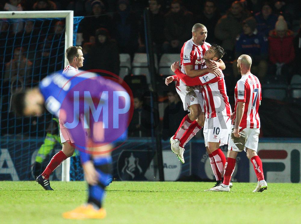 Stoke City's Jonathan Walters celebrates after scoring Stoke's fourth goal - Photo mandatory by-line: Matt McNulty/JMP - Mobile: 07966 386802 - 26/01/2015 - SPORT - Football - Rochdale - Spotland Stadium - Rochdale v Stoke City - FA Cup Fourth Round