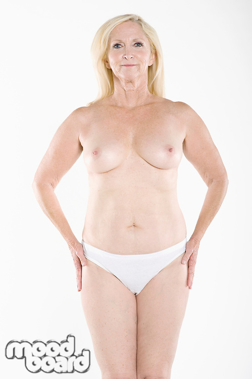 Woman flaunting her topless body