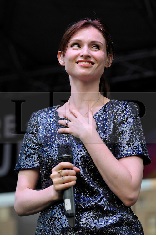 © Licensed to London News Pictures. 13/07/2013. Bristol, UK.  Sophie Ellis Bextor headlines at the Bristol Pride Festival.  13 July 2013.<br /> Photo credit : Simon Chapman/LNP