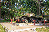 Replica of the tank that crashed the front gates of the Independence Palace at the end of the Vietnam War in 1975.