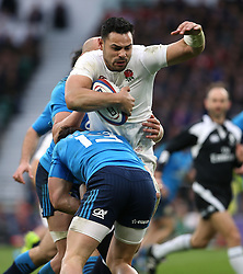 26 February 2017 : 6 Nations Rugby : England v Italy :<br /> Ben Te'o of England is held in the tackle.<br /> Photo: Mark Leech