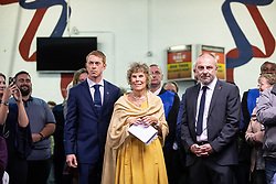"© Licensed to London News Pictures . 22/09/2018. Bolton, UK. KATE HOEY waits to enter the auditorium to speak . Pro Brexit campaign group Leave Means Leave host a "" Save Brexit "" and "" Chuck Chequers "" rally at the University of Bolton Stadium , attended by leave-supporting politicians from a cross section of parties , including Conservative David Davis , former UKIP leader Nigel Farage and Labour's Kate Hoey . Photo credit: Joel Goodman/LNP"
