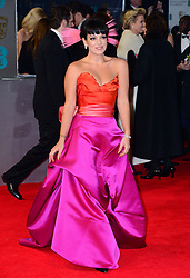Lily Allen arrives for the EE BRITISH ACADEMY FILM AWARDS 2014 (BAFTA) at the The Royal Opera House in Covent Garden, London, United Kingdom. Sunday, 16th February 2014. Picture by Nils Jorgensen / i-Images
