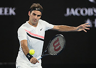 ROGER FEDERER (SUI)<br /> <br /> Tennis - Australian Open 2018 - Grand Slam / ATP / WTA -  Melbourne  Park - Melbourne - Victoria - Australia  - 28 January 2018.