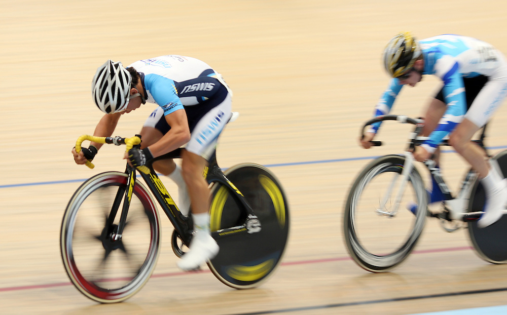 New South Wale's Caleb Ewan competes in the U19 Men's Omnium at the 2012 Oceania Track Cycling Championships,  ILT Velodrome, Invercargill, New Zealand, Monday, November 21, 2011. Credit:SNPA / Dianne Manson.