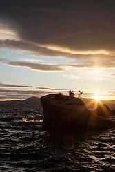 """Bonsai Rock Sunset 1"" - Photograph at sunset of the famous Bonsai Rock on the East shore of Lake Tahoe."