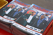 Walsall v Chelsea programme during the Capital One Cup match between Walsall and Chelsea at the Banks's Stadium, Walsall, England on 23 September 2015. Photo by Alan Franklin.