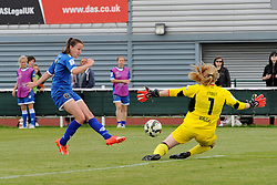 Caroline Weir of Bristol Academy Women takes a shot at the Liverpool goal - Mandatory by-line: Paul Knight/JMP - Mobile: 07966 386802 - 13/09/2015 -  FOOTBALL - Stoke Gifford Stadium - Bristol, England -  Bristol Academy Women v Liverpool Ladies FC - FA WSL Continental Tyres Cup