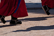 The Changing of the Guard re-enactment at Gyeongbok Palace, Seoul, South Korea
