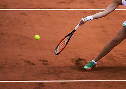 June 6, 2017 - Roland Garros Porte D Auteuil, France - 10e  journee : illustration jambe raquette pied (Credit Image: © Panoramic via ZUMA Press)