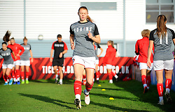 Meaghan Sargeant of Bristol City warms up prior to kick-off- Mandatory by-line: Nizaam Jones/JMP - 27/10/2019 - FOOTBALL - Stoke Gifford Stadium - Bristol, England - Bristol City Women v Tottenham Hotspur Women - Barclays FA Women's Super League