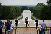 Changing guard at Tomb of the Unknown Soldier in Arlington National Cemetary