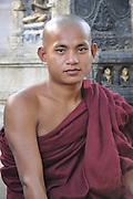 Buddhist Monk, Mahabodhi Temple, Bodh Gaya, Gaya, Bihar, India