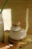 Stones in a zen spa setting.