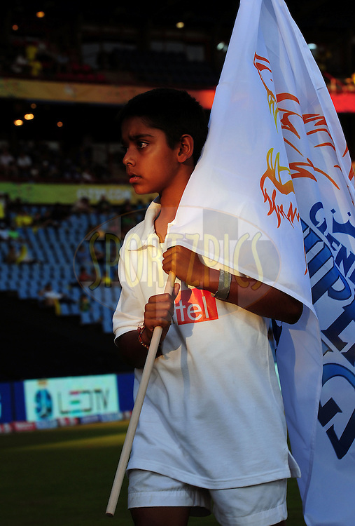 Flag Bearers  during match 9 of the Airtel CLT20 held between the Chennai Super Kings v Wayamba Elevens at Supersport Park in Centurion on the 15 September 2010..Photo by: Trevor Kolk/SPORTZPICS/CLT20