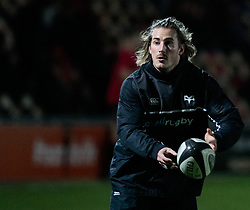 Ospreys' Jeff Hassler during the pre match warm up<br /> <br /> Photographer Simon King/Replay Images<br /> <br /> Guinness Pro14 Round 12 - Dragons v Cardiff Blues - Sunday 31st December 2017 - Rodney Parade - Newport<br /> <br /> World Copyright © 2017 Replay Images. All rights reserved. info@replayimages.co.uk - http://replayimages.co.uk