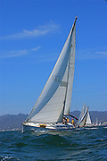 The sailboats participate in 2009 Regatta    of the coast of La Cruz Mexico.
