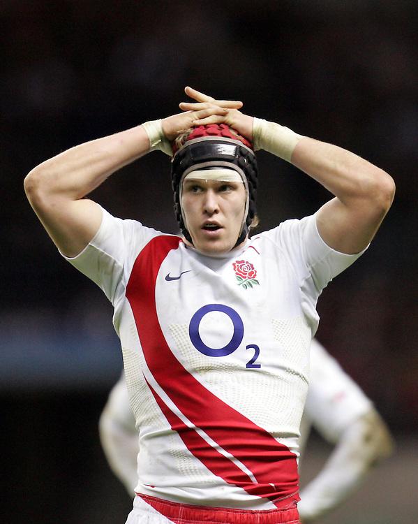 A dejected Tom Rees of England. England v Wales, RBS Six Nations 2008, Twickenham, England, 2nd Feb 2008.