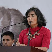 Metepec, Méx.- Luz María Zarza, Consejera Política, durante la inauguración del Centro para la Atención a Víctimas en el Estado de México. Agencia MVT / José Hernández