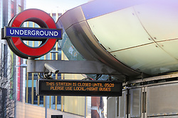 © Licensed to London News Pictures. 21/01/2020. London, UK. Southwark Tube station has been closed since the flooding from burst pipe and will remain closed for the rest of the day. Photo credit: Dinendra Haria/LNP
