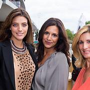 NLD/Amsterdam/20130912 - Talkies Terras Lunch 2013, zwangere Marvy Rieder, Charissa Ling en