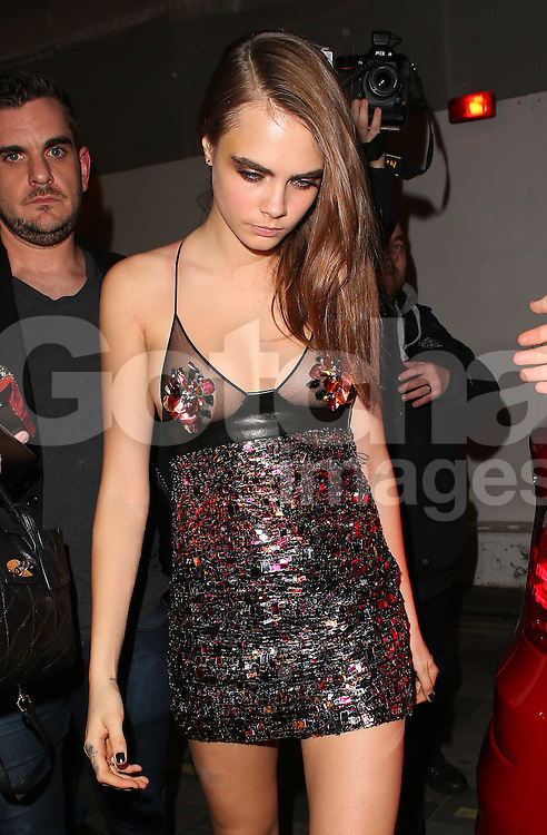 Cara Delevingne atttends the British Fashion Awards After Party at Cafe Royal in London, UK. 01/12/2014<br />