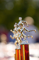 display of trophy for the runners in a cross country race
