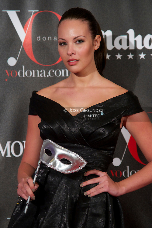 Jessica Bueno attends 'Yo Dona' Magazine's Mask Party at Casino on 18 February, 2013 in Madrid