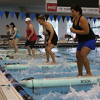 Saturday's Itty Bitty Beach Party at the Tupelo Aquatic Center offered classes for adults like the Boga fitness class