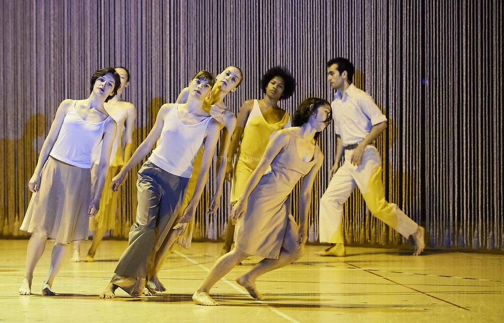 London, UK.12th June  2017.  Anne Teresa De Keersmaeker world renowned Dance Company, Rosas  present Rain, returning to  Sadler's Wells.<br /> <br /> Performed by <br /> <br /> Laura Bachman<br /> Lea Dubois<br /> Anika Edstrom<br /> Kawaji <br /> Zoi Efstathiou<br /> Yuika Hashimoto<br /> Laura Maria Poletti, <br /> Soa Ratsifandrihana<br /> Frank Gizycki<br /> Robin Haghi <br /> Lav Crbcevic<br /> Thomas Vantuycom