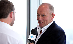 Bristol Rugby's Director of Rugby, Andy Robinson speaks to Radio Five Live at the Aviva Premiership fixture launch - Mandatory by-line: Robbie Stephenson/JMP - 07/07/2016 - RUGBY - BT Tower - London, United Kingdom  - Aviva Premiership Fixture Launch