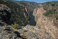 Morrow Point Reservoir of the Gunnison River in the Black Canyon of the Gunnison.   Curecanti National Recreation Area, Colorado.