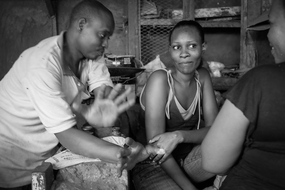 Threesome  |  Lamu Town Market, Kenya