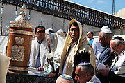 Israel, Old City of Jerusalem, Orthodox Jew deep in prayer at the Wailing Wall