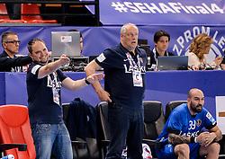 Branko Tamse, coach of Celje PL during handball match between Meshkov Brest and RK Celje Pivovarna Lasko in bronze medal match of SEHA- Gazprom League Final 4, on April 15, 2018 in Skopje, Macedonia. Photo by  Sportida