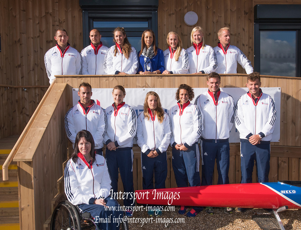 Eton Dorney, England. Official opening of the new British Canoeing, Elite Training centre, by  Helen Grant MP, Minister for<br /> Sport and Tourism, Dorney Lake, Berkshire<br /> <br /> Tuesday  03/03/2015<br /> [Mandatory Credit Peter SPURRIER/Intersport Images]