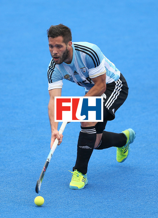 LONDON, ENGLAND - JUNE 24: Agustin Mazzilli of Argentina in action during the semi-final match between Argentina and Malaysia on day eight of the Hero Hockey World League Semi-Final at Lee Valley Hockey and Tennis Centre on June 24, 2017 in London, England. (Photo by Steve Bardens/Getty Images)