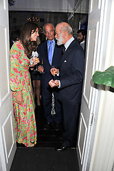 Left to right, LADY NATASHA RUFUS ISAACS, the 4th MARQUESS OF READING and HRH PRINCE MICHAEL OF KENT at a reception hosted by Beulah London and the United Nations to launch Beulah London's AW'11 Collection 'Clothed in Love' and the Beulah Blue Heart Campaign held at Dorsia, 3 Cromwell Road, London SW7 on 18th October 2011.