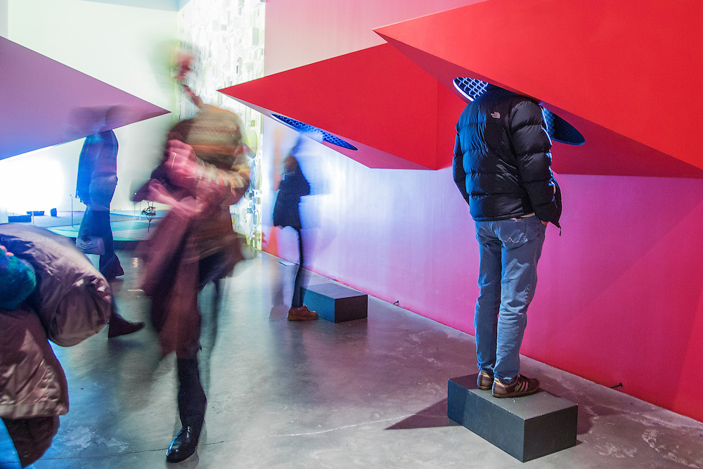 The Swiss artist Pipilotti Rist on display at the New Museum. The exhibition @Pixel Forest@ spans over three floors.