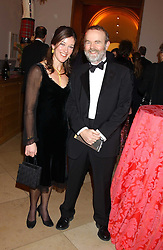 IAN HISLOP and his wife VICTORIA at a fundraising gala to celebrate 150 years of The National Portrait Gallery, at the NPG, St.Martin's Place, London on 28th February 2006.<br /><br />NON EXCLUSIVE - WORLD RIGHTS