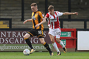 George Maris and George Lloyd during the EFL Sky Bet League 2 match between Cambridge United and Cheltenham Town at the Cambs Glass Stadium, Cambridge, England on 21 April 2018. Picture by Antony Thompson.