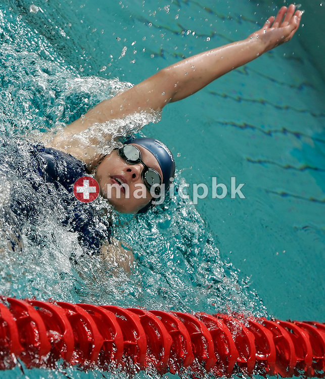 Jennifer BAENZIGER of Switzerland swims on the backstroke leg in the women's 200m individual medley (IM)  heats in the Hallenbad Oerlikon at the Swimming Swiss Championships in Zurich, Switzerland, Saturday 12 May 2007. (Photo by Patrick B. Kraemer / MAGICPBK)