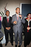 l to r: Rev. Al Sharpton and Bronx Borough President Ruben Diaz at Rev. Al Sharpton's 55th Birthday Celebration and his Salute to Women on Distinction held at The Penthouse of the Soho Grand on October 6, 2009 in New York City