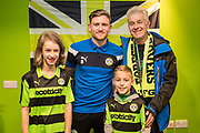 Ambassadors with MOM Forest Green Rovers Dayle Grubb(8) during the EFL Sky Bet League 2 match between Forest Green Rovers and Cambridge United at the New Lawn, Forest Green, United Kingdom on 20 January 2018. Photo by Shane Healey.