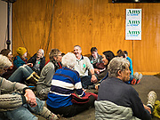 26 JANUARY 2020 - AMES, IOWA: People wait for a campaign event with Senator Amy Klobuchar (D-MN) to start at Jethro's BBQ in Ames, IA. Sen. Klobuchar campaigned to support her candidacy for the US Presidency Sunday in central Iowa during the one day break from the impeachment trial of President Trump. She is trying to capitalize on her recent uptick in national polls. Iowa holds the first selection event of the presidential election cycle. The Iowa Caucuses are Feb. 3, 2020.     PHOTO BY JACK KURTZ