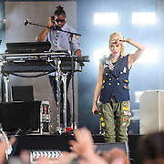 WASHINGTON, D.C. - April 18th, 2015 - Gwen Stefani and Gabe McNair of No Doubt perform at the Global Citizen 2015 Earth Day concert on the National Mall in Washington, D.C. (Photo by Kyle Gustafson / For The Washington Post)